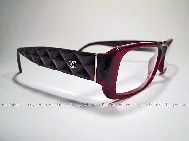 New Chanel Eyeglass Frames : New Chanel 3124 Eyeglasses Frame Quilted Bordeaux Rx eBay
