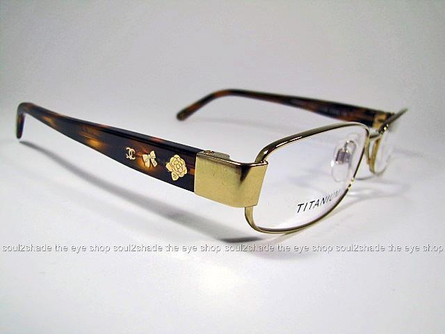 New Chanel Eyeglass Frames : New Chanel 2134-T Eyeglasses Frame Gold Titanium Rx