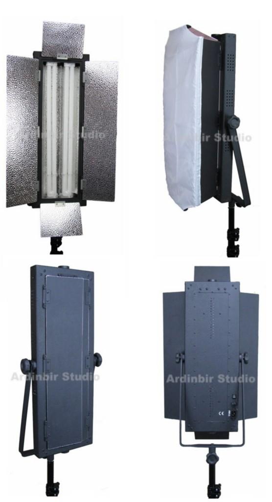 fluorescent studio video light panel lite lamp with white diffuser. Black Bedroom Furniture Sets. Home Design Ideas