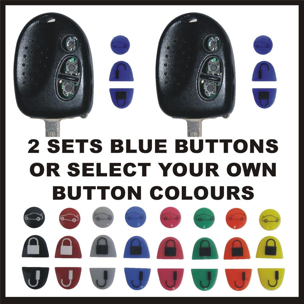 REPAIR-TWO-HOLDEN-COMMODORE-KEYS-BLUE-BUTTONS-OR-SELECT-YOUR-OWN-COLOURS
