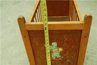Vintage Wood Infant Baby Doll Crib Bed Play Pen Wheels Ebay