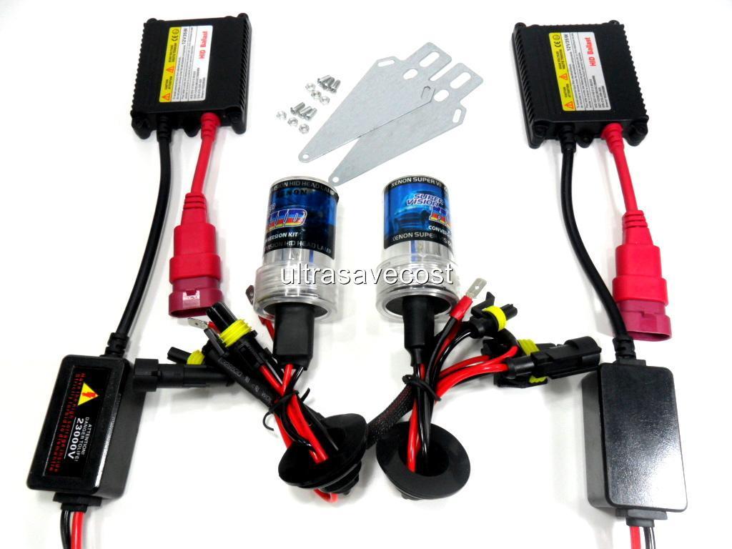 W H H Xenon HID Conversion Kit Slim Ballast Bulbs K EBay - H4 bulb wiring diagram