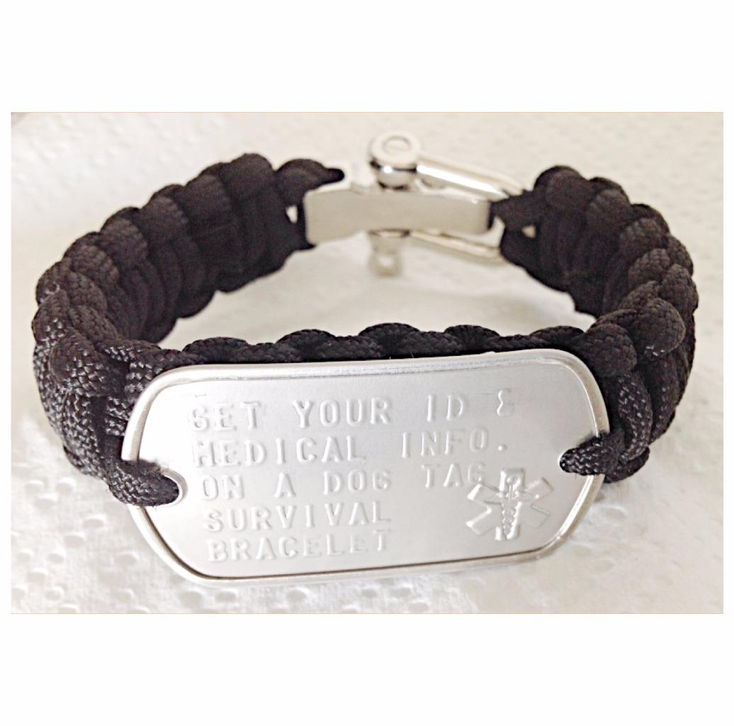 MENS-PERSONALISED-DOG-TAG-PARA-CORD-SURVIVAL-BRACELET-FREE-TEXT-REGISTERED-POST