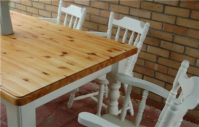 PINE FARMHOUSE SHABBY CHIC DINING TABLE BENCH AND FOUR CHAIRS LAURA ASHLEY