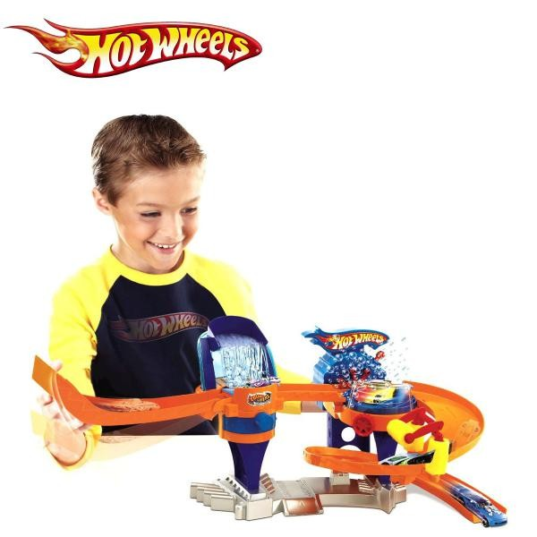 Toys And Games For Boys : Hot wheels colour shifters bubble matic car wash toys