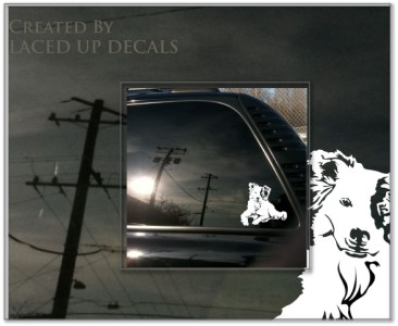 Border Collie herding dog Sheepdog trial vinyl decal sm