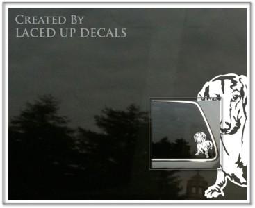 Dachshund Dog vinyl decal badger wiener hound sm