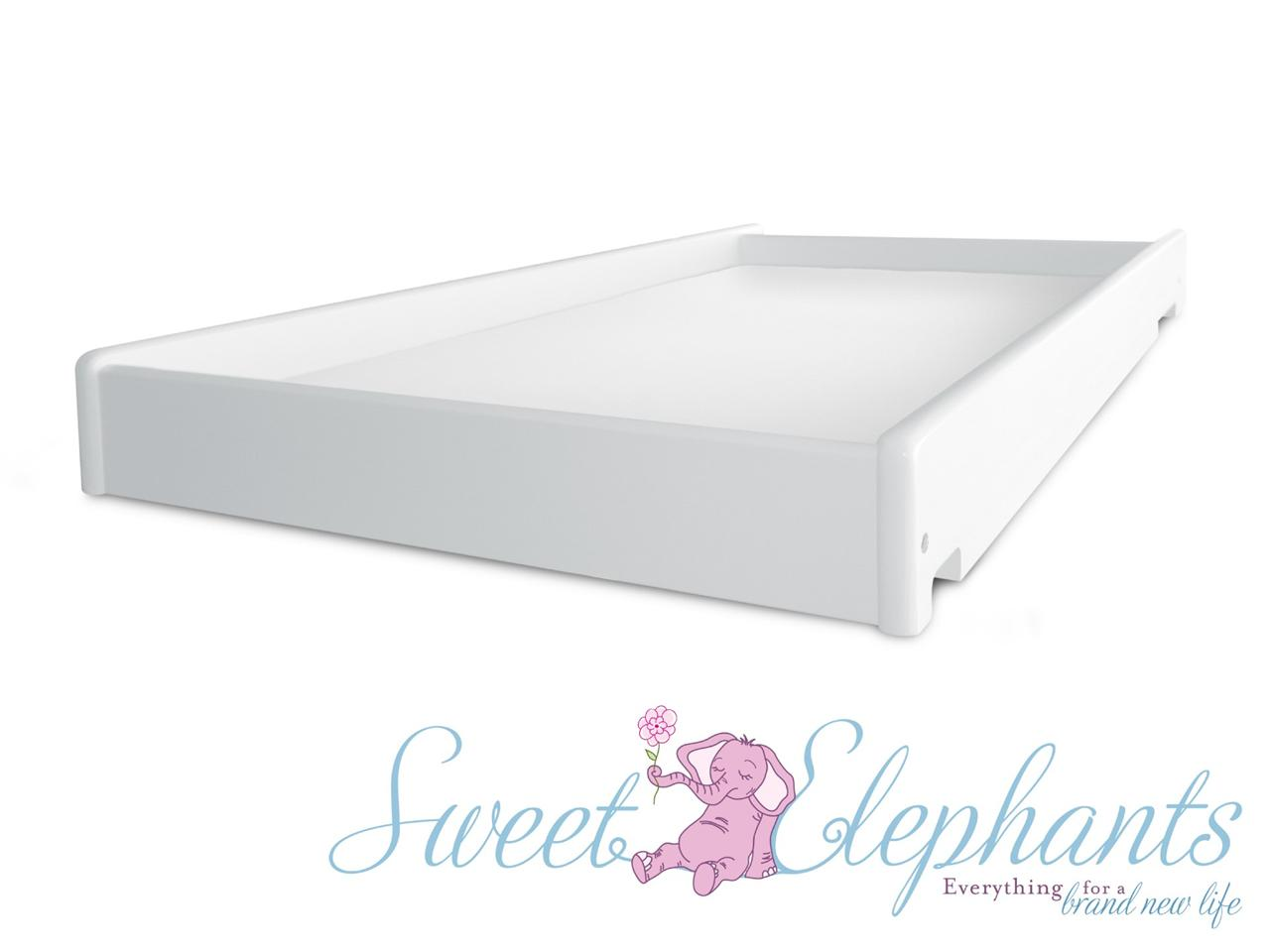 NEW 5 In 1 WHITE BABY COT BASSINET TODDLER BED