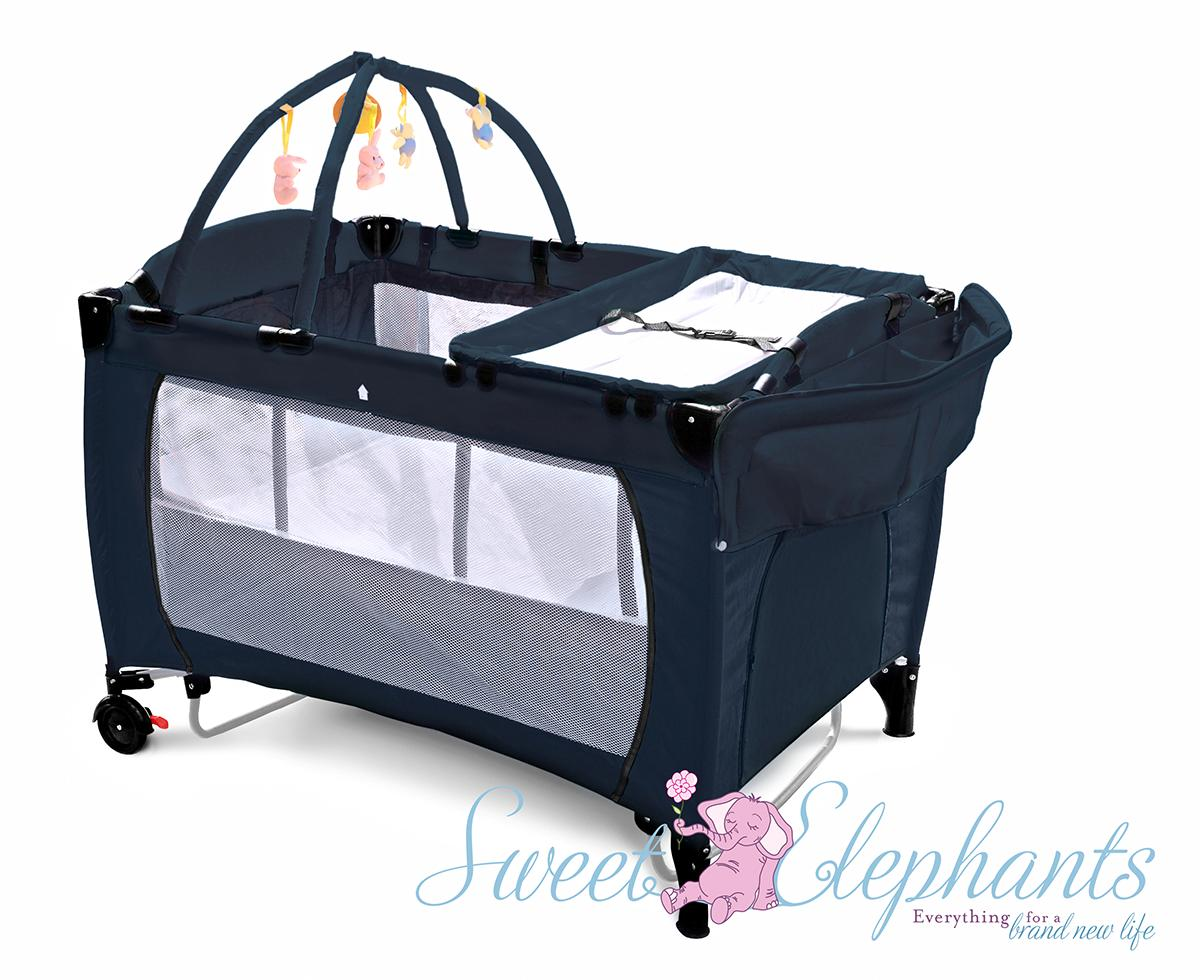 Baby bed for travel - All Black