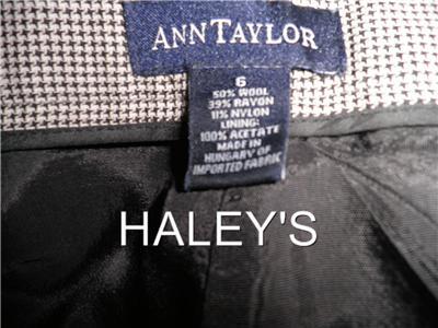 Anne Taylor Dresses on Ann Taylor Brown Cream Checkered Dress Slacks Pants 6