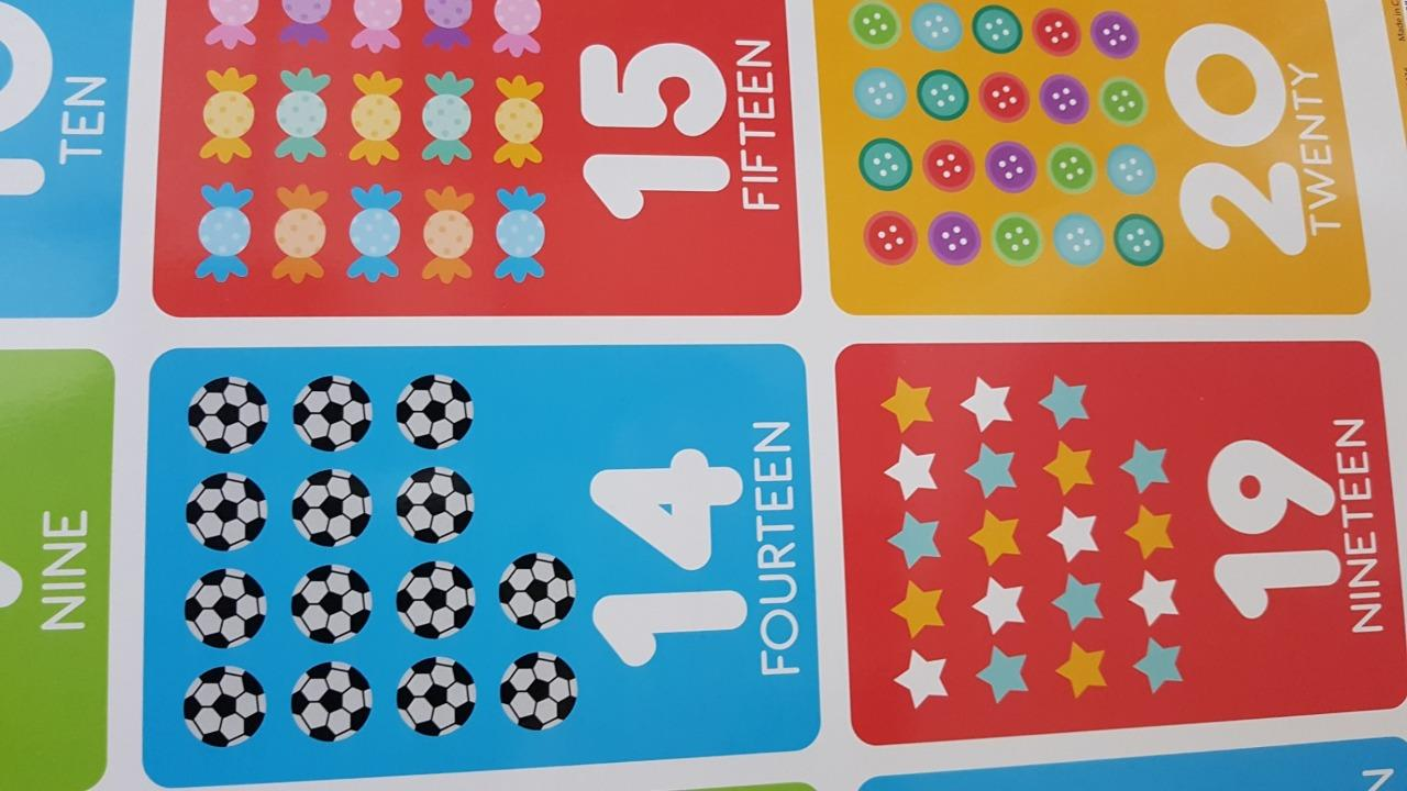 Maxi Size 49 x 69 cm 27 x 19 inches Counting 1-20 Educational Poster New