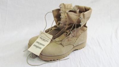 McRae Mens Hot Weather Tan Army Combat Boots 9 5 New