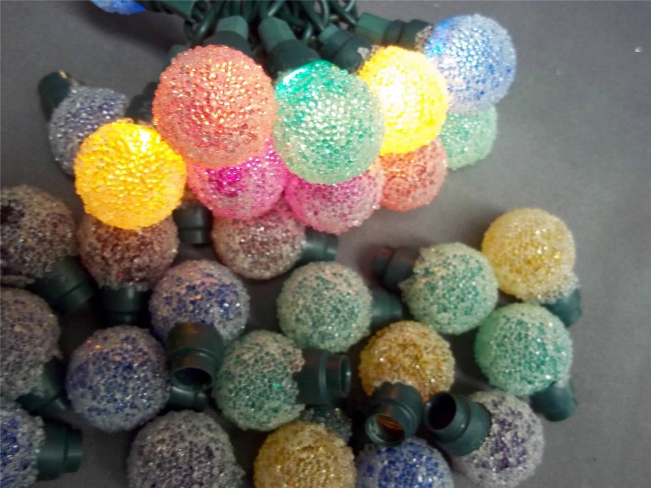 35 colored mini christmas light covers snowball ice