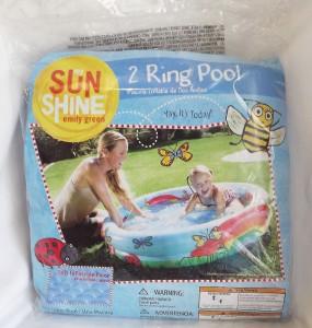 Sunshine Emily Green Kids Babies 2 Ring Inflatable Water Swimming Pool