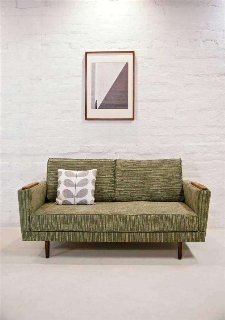 Transformable mid century modern danish sofa bed retro for Sofa bed 50s