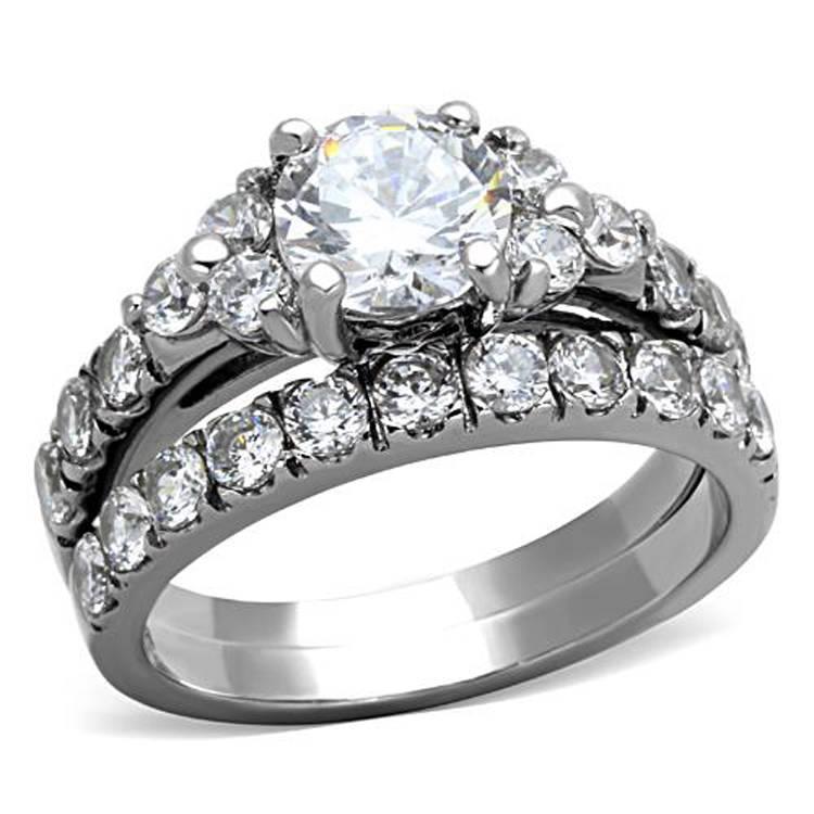 ... Wedding > Engagement/Wedding Ring Sets > CZ, Moissanite & Simulated