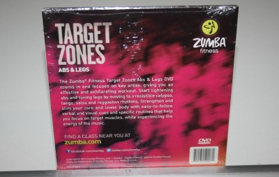 zumba fitness target zones dvd legs and abs new no for wii xbox ps3 ebay. Black Bedroom Furniture Sets. Home Design Ideas