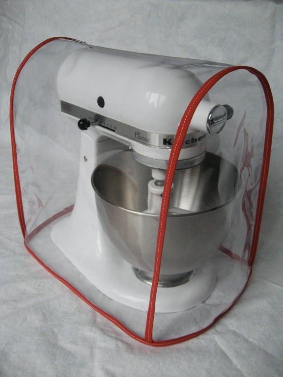 clear mixer cover fits kitchenaid artisan tilt-head - red trim