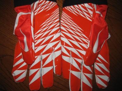 Vapor Jet Football Gloves NFL Orange / White XXXL 3 Extra Large Carbon