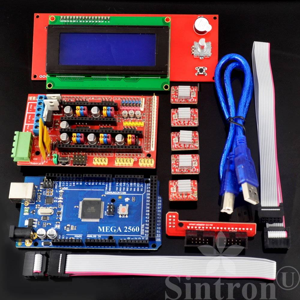 Sintron  3d Printer Controller Kit Ramps 1 4   Mega 2560 R3   5pcs A4  U2013 Sintron Technology