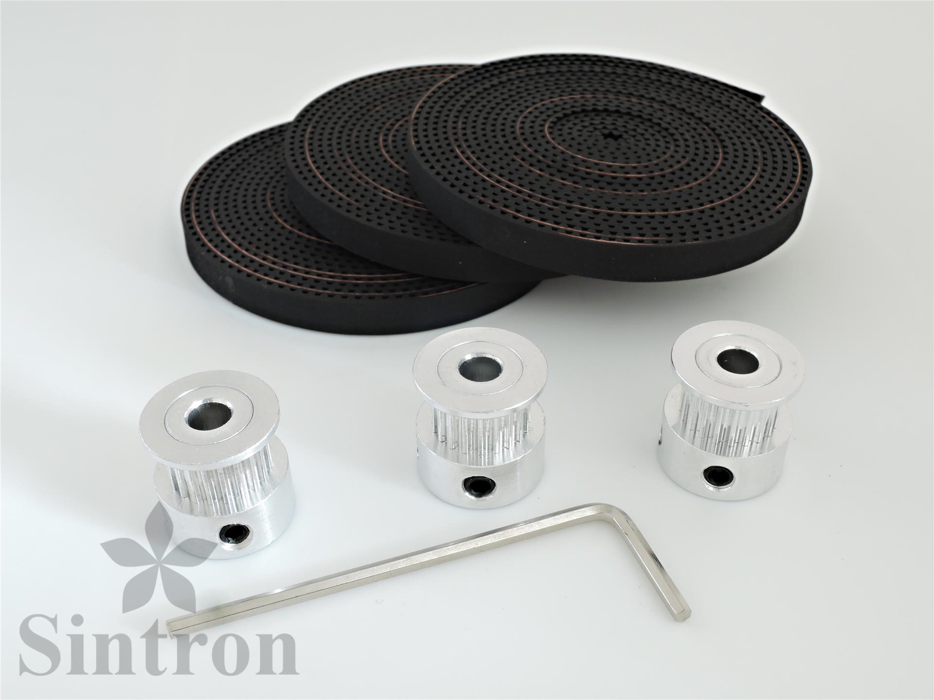 6x F623zz Bearing 3x 2m Belt Gt2 20 Tooth Pulley For Delta Rostock Mini Timing System Especially Suited Linear Movement And Positioning Applications