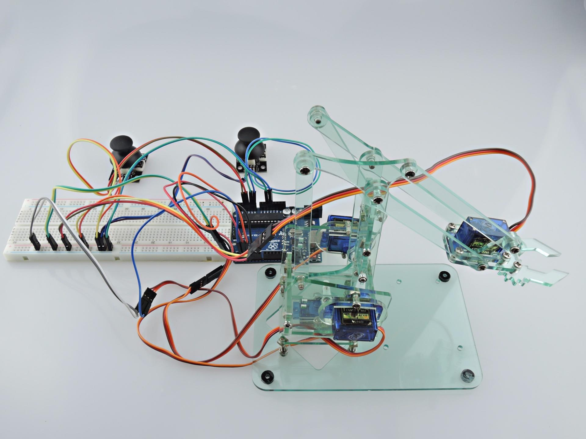 Sintron mini industrial robotic arm kit servo uno r