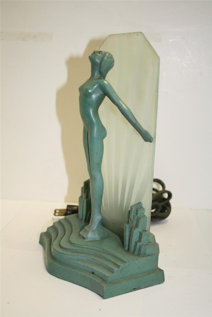 Art Deco Nude Lamp