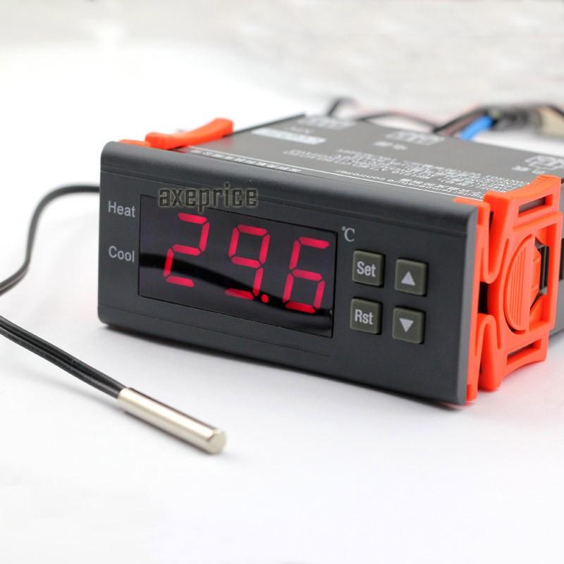 dc 12v led digital temperature controller temp sensor