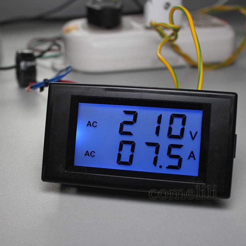 New-AC-LCD-Panel-Digital-Ammeter-Volt-Meter-Amp-Voltmeter-100A-80V-300V-DIY-1