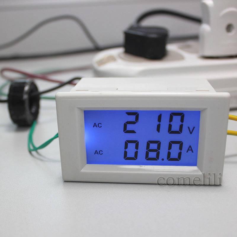 New-AC-LCD-Panel-Digital-Ammeter-Volt-Meter-Amp-Voltmeter-100A-80V-300V-DIY-2
