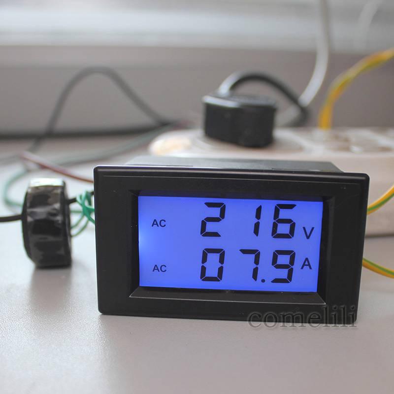 New-AC-LCD-Panel-Digital-Ammeter-Volt-Meter-Amp-Voltmeter-100A-80V-300V-DIY-3