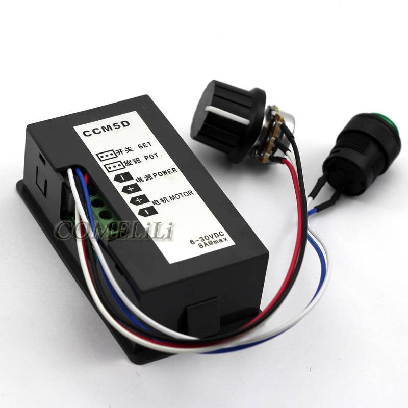 Dc 6 30v 12v 24v max 8a motor pwm speed controller with for Digital dc motor speed control