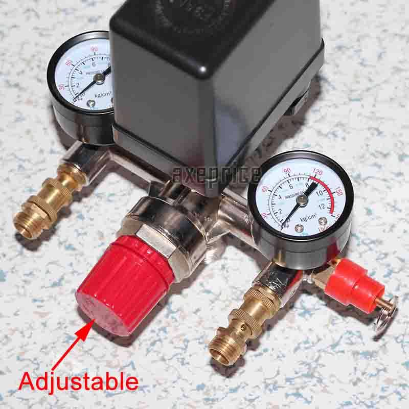 Psi pressure switch manifold regulator gauge quick