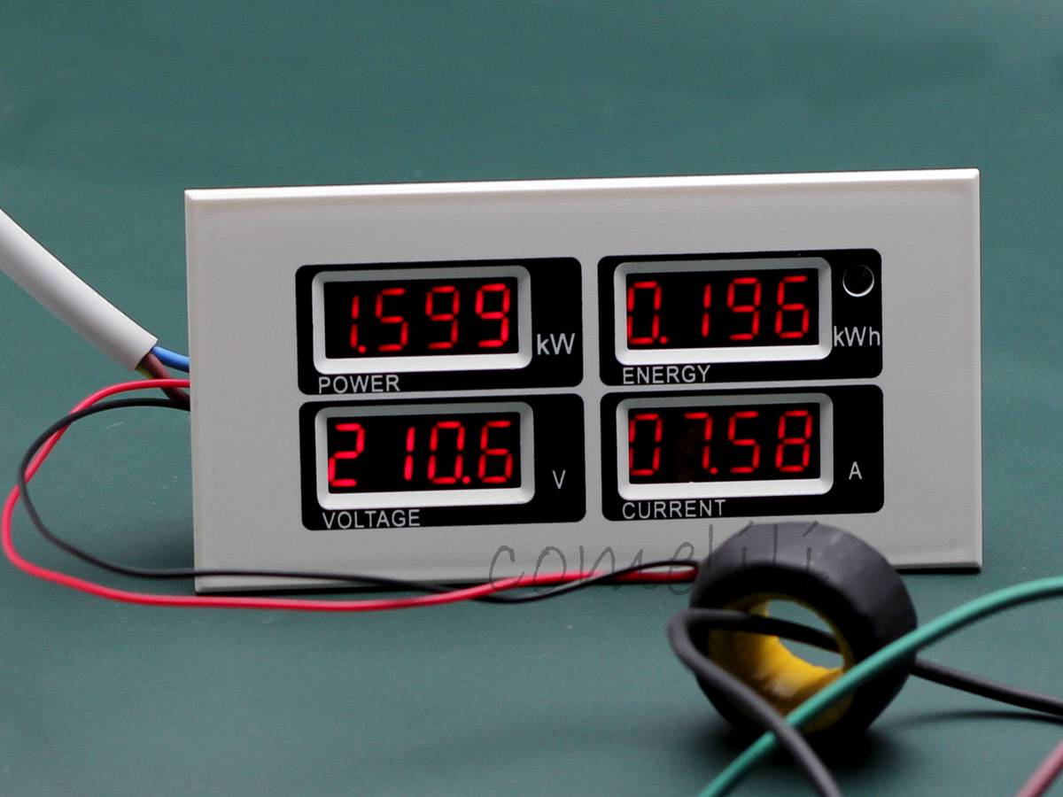 Ac Power Meter : A ac digital led power meter monitor voltage kwh time