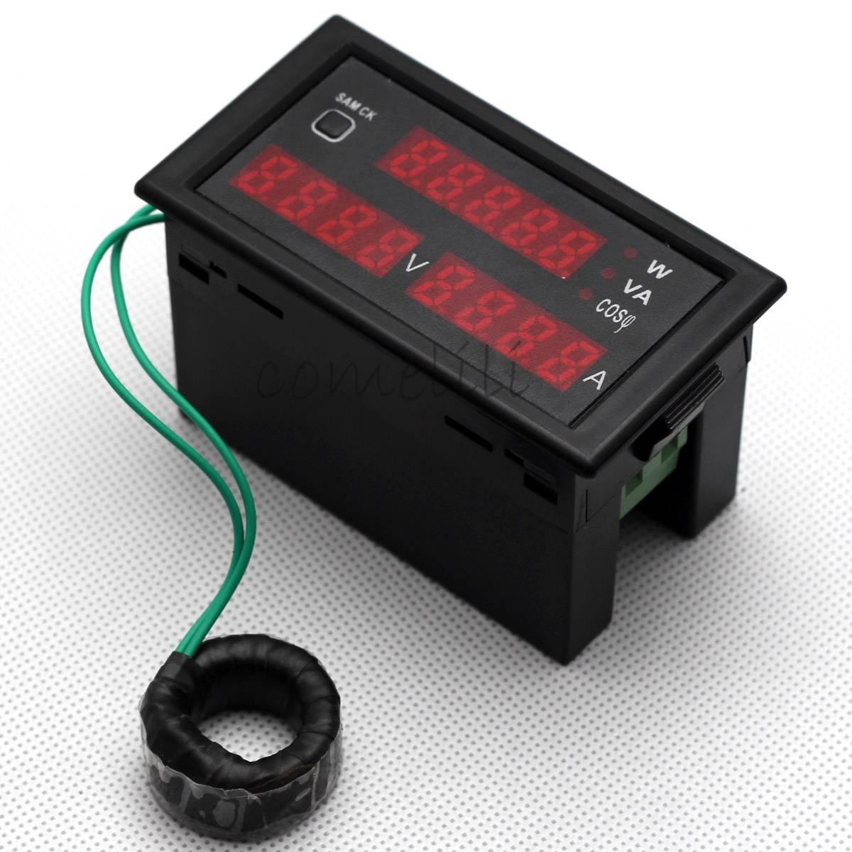 Ac Power Sensor : New ac v a digital watt power meter volt amp