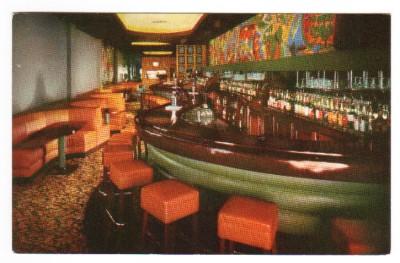 Bar Interior Hotel Olds Lansing Michigan 1960s Postcard Ebay