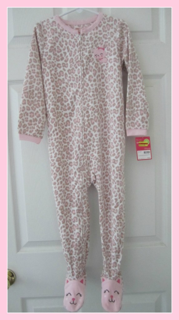 New Girls Toddler Footed Pajamas Blanket Sleeper Carters