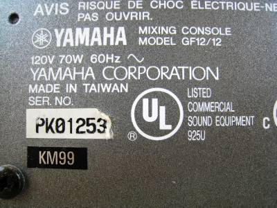 Yamaha Mixing Console Gf