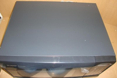 Sharp R 307nk Microwave Oven 1100w Black Paint Chipped