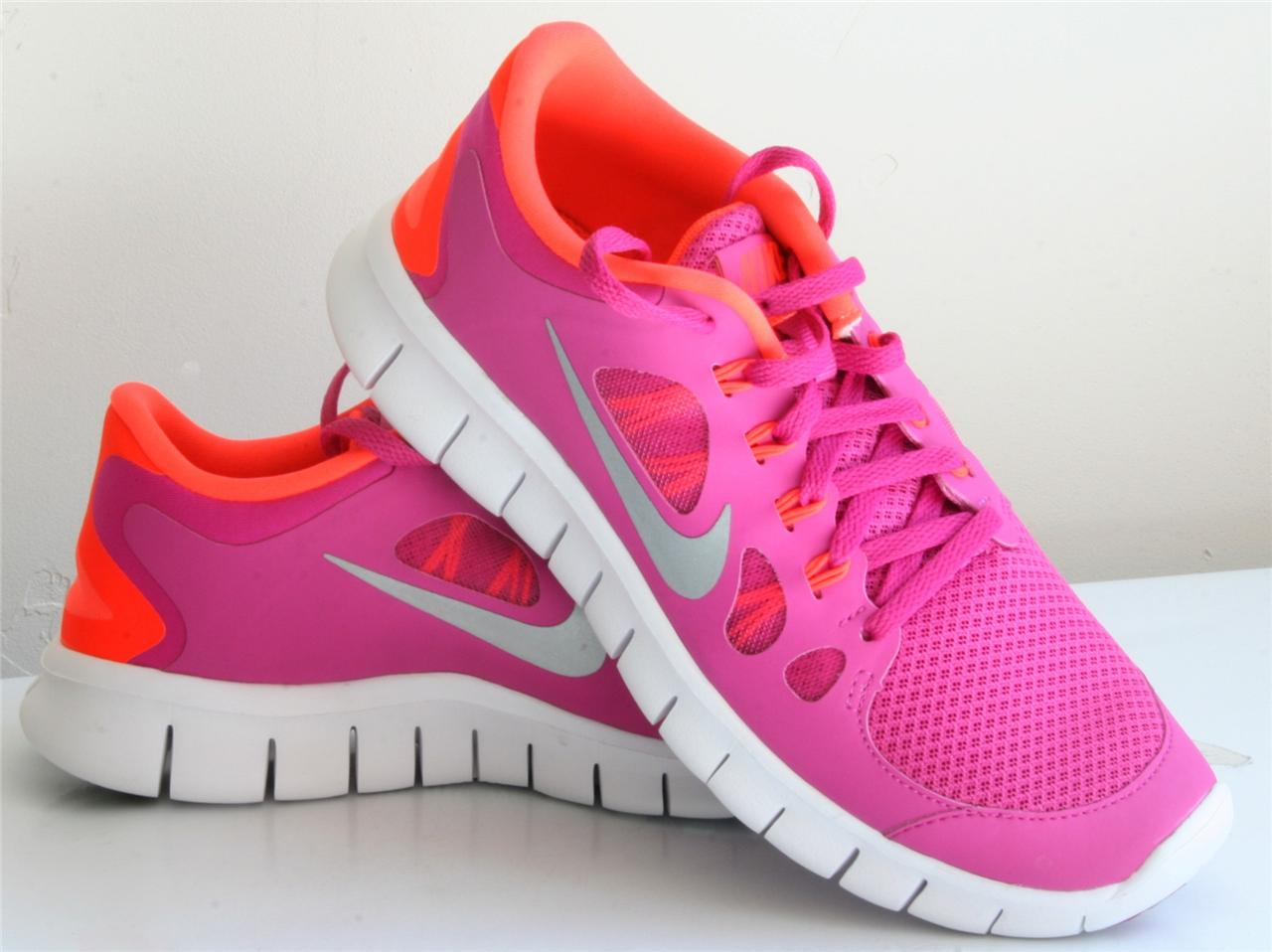nike free run orange and pink