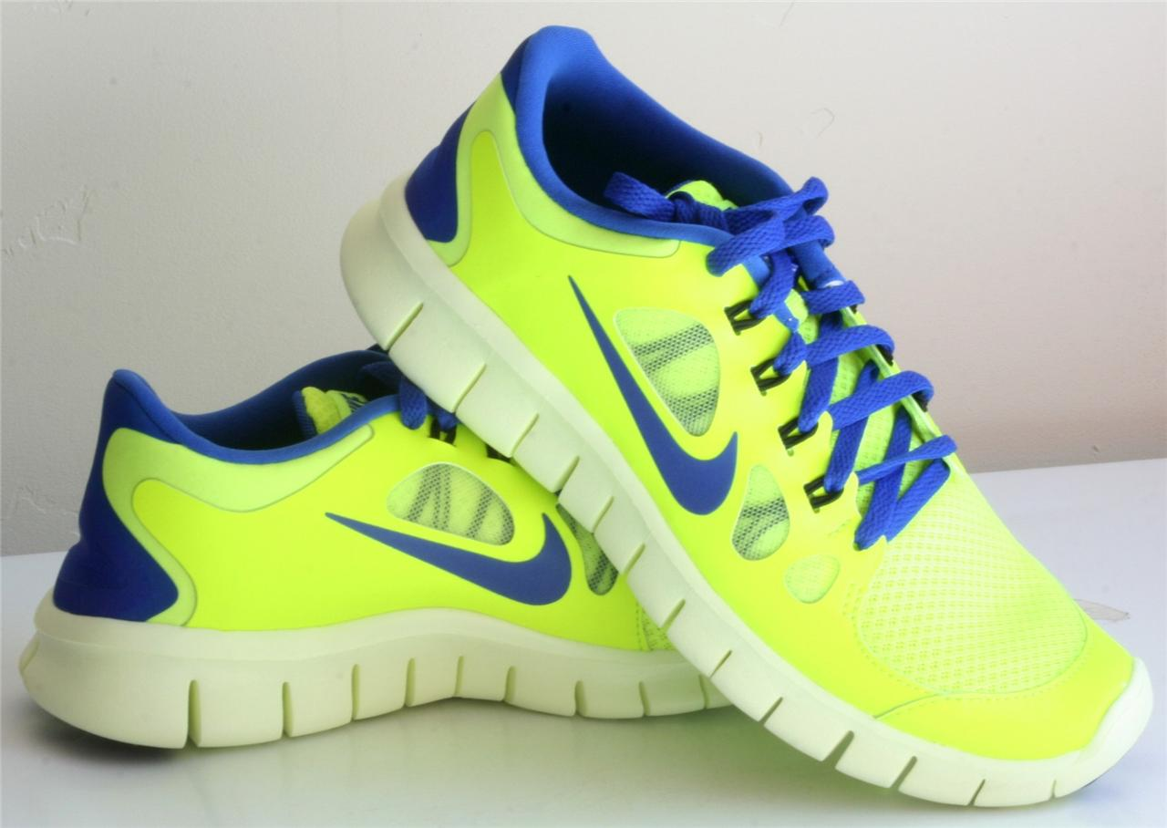 Nike Green Blue Youth Boys Shoes
