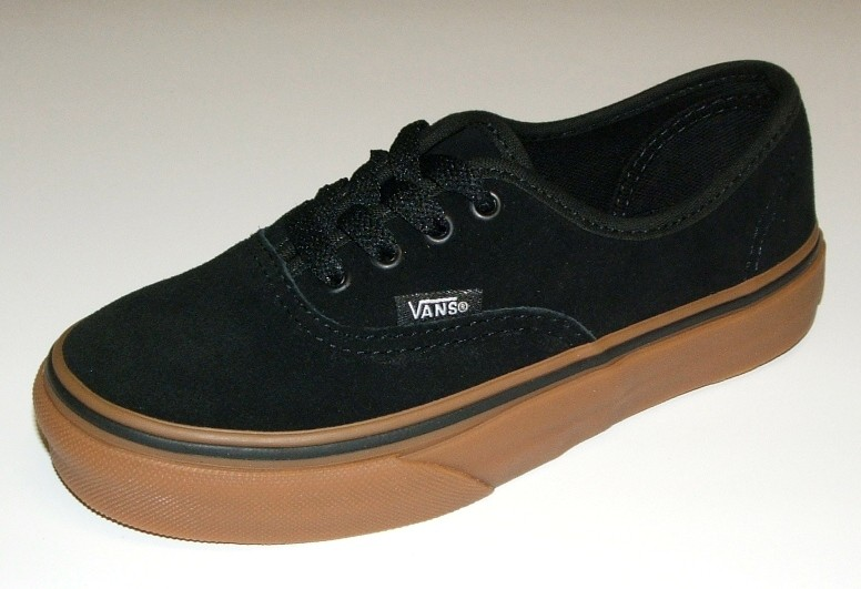 VANS-KIDS-AUTHENTIC-BLACK-GUM-SUEDE-YOUTH-SHOES-AUSTRALIAN-SELLER-FAST-FREE-POST