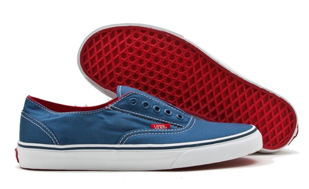 VANS-MENS-SHOES-ERA-LACELESS-NAVY-T-WHITE-SNEAKERS-AUSSIE-SELLER-FREE-DELIVERY