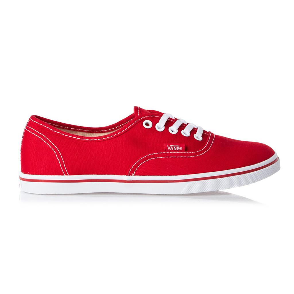 VANS LADIES SHOES AUTHENTIC LO PRO T RED T WHITE AUS SELLER FAST FREE DELIVERY