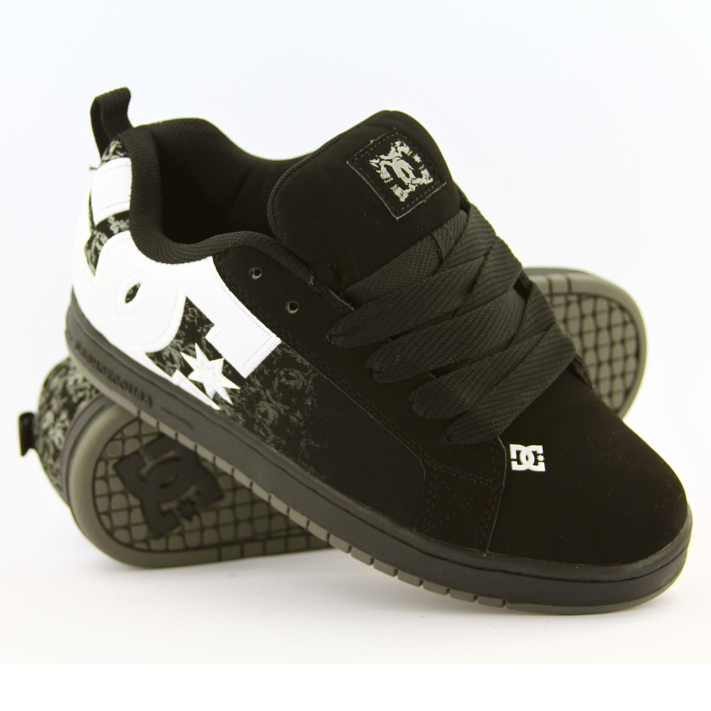 DC-SHOES-MENS-COURT-GRAFFIK-SE-BLK-WHT-MOL-SNEAKERS-AU-SELLER-FAST-FREE-DELIVERY