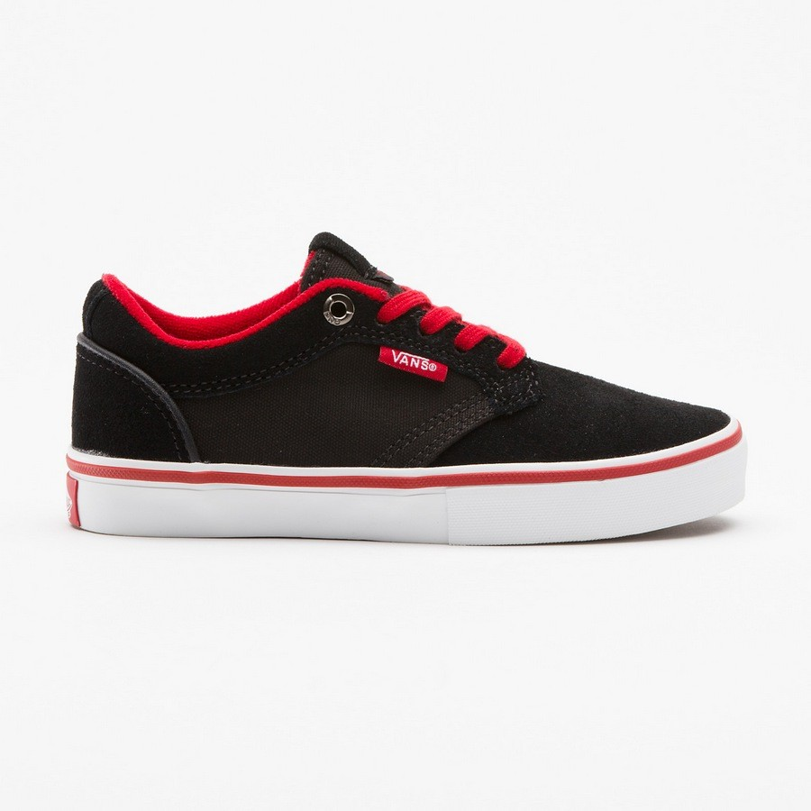 VANS-KIDS-TYPE-II-BLACK-RED-CASUAL-YOUTH-SHOES-AUSTRALIAN-SELLER-FREE-DELIVERY