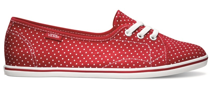 vans shoes red and white. image is loading vans-leah-polka-dots-true-red-true-white- vans shoes red and white