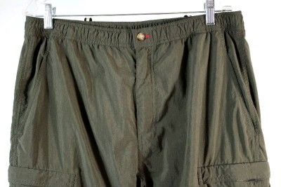 army green THE NORTH FACE convertible cargo pants shorts zip off LARGE