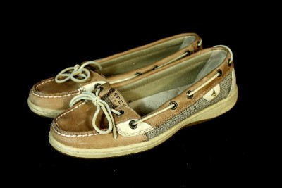 Sperry  Sider Shoes Sale on Womens Tan Sperry Top Sider Angelfish Boat Shoes Loafers Leather Slip