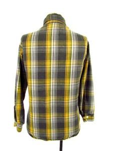 Vintage 50s mens yellow plaid big mac sanforized flannel for Mens yellow plaid flannel shirt